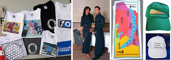 T-Shirt, Sweat Shirt, Berufsbekleidung mit Textildruck und Stick, Frotte, Cap mit Druck und Stick