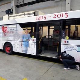 Ganzgestaltung Verkehrsmittelwerbung