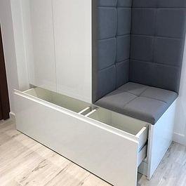Rénovation partielle d'une villa à Morges, exemple de meubles sur mesure