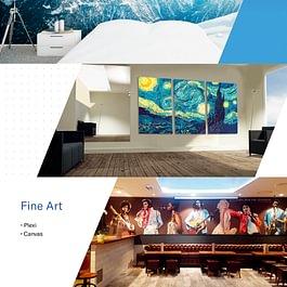 Décoration - Vitrines - Autocollants - Papiers-Peints / Fine Art - Plexi - Canvas