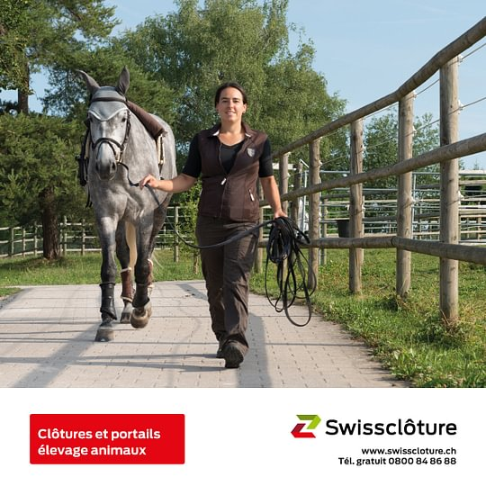 Swissclôture –clôtures et portails élevage animaux.