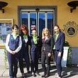 Staff hotel, vista lago, benvenuti, bienvenus, welcome, Wilkommen, reception, facciata hotel, Eingang, Main entrance