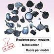 Roulettes pour meubles