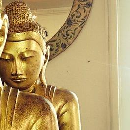 Echtblattvergoldeter Buddha