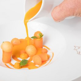 Sommerkarte Geeiste Melonensuppe