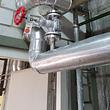 Dampfleitung mit Absperrventil und Armaturenkissendämmung