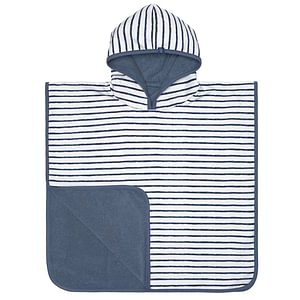 "LÄSSIG UV-Badeponcho ""Stripes Navy"""