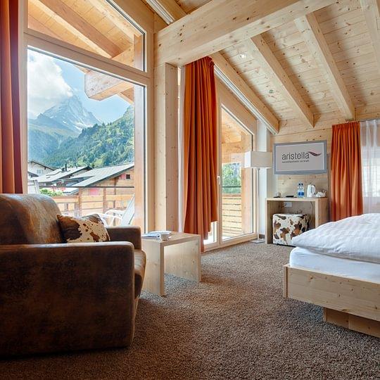 Doppelzimmer Alpin mit Matterhornblick