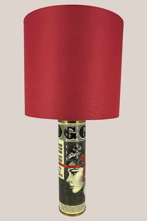 "Piero Fornasetti Table Lamp ""Oggi"" - Italy, 1960s"