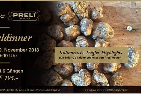 Trüffel Dinner am 29.11.2018