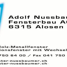 Nussbaumer Adolf Fensterbau AG