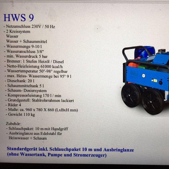 HWS 9 Unkrautentferner Heisswasserschaum : neu