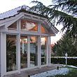 Wintergarten mit Holzfenster