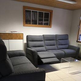salon avec ou sans fauteuil relax  -  Meubles Alaska - La Brévine