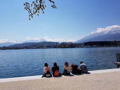 Pausen am See