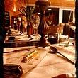 Kupferdekoration Tischdeko