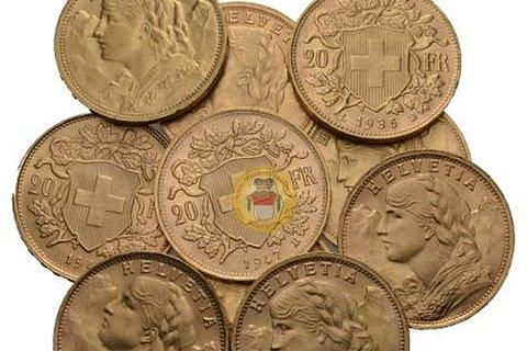 Goldvreneli Ankauf 20 Franken und 100 Franken Goldvreneli, 20 Franken Helvetia