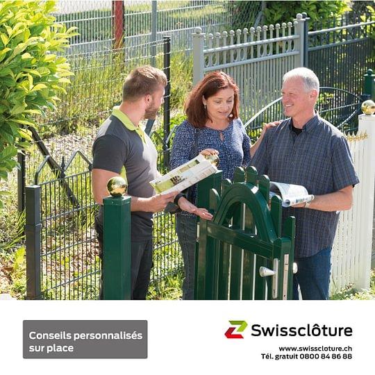 Swissclôture –conseils personnalisés sur place.