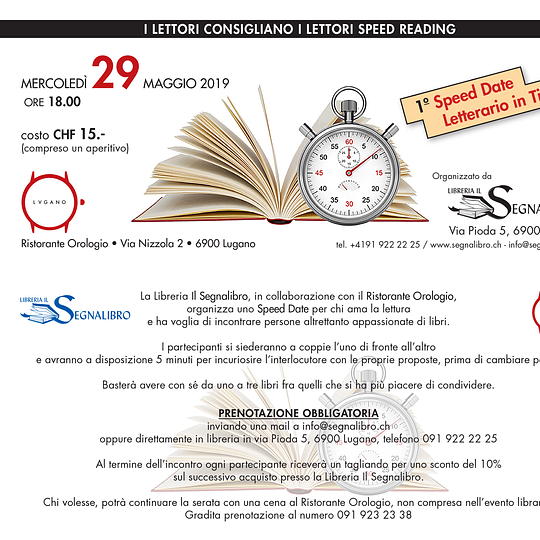 Speed Reading Segnalibro