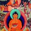 peintures tibétaines, tentures, images du bouddhisme tibétain, tangka...