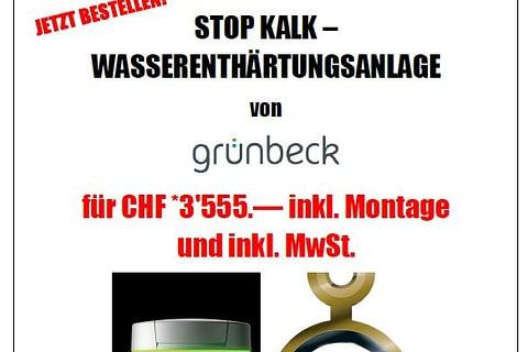 Wasserenthärtungsanlage von Grünbeck SPEZIAL-Angebot inkl.MwSt.und inkl.Montage
