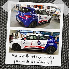 Elle est top notre voiture Ecotech Genève, prête pour aller sur les chantiers