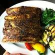 Costine di maiale con verdure
