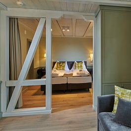 Junior Suite Schlafbereich Hotel Spinne Grindelwald