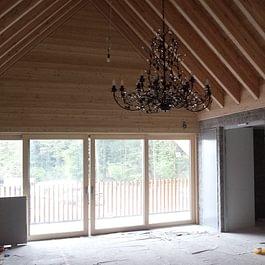Dachkonstruktion, Heuboden Holzhäusern