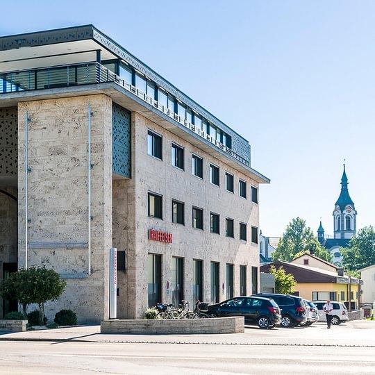 Hauptsitz der Raiffeisenbank Mittelrheintal