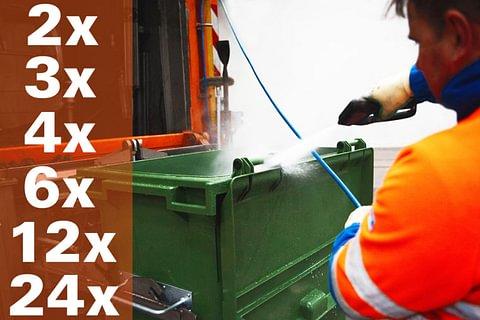Container-Reinigung 2-Räder (3-Jahres-ABO)