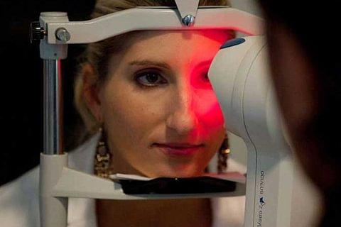 Optometrische Augenuntersuchung