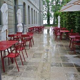 Prangins : Terrasse du Musée National Suisse