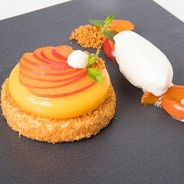 Sommerkarte Aprikosen Cheesecake