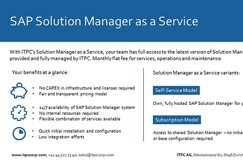 SAP Solution Manager as a Service