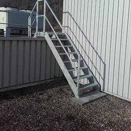 Gitterrost-Treppe verzinkt