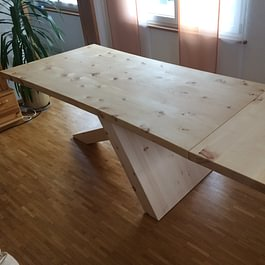 Fischer Massiv Holz Möbel, Oberaach - Esszimmertisch aus Arvenholz
