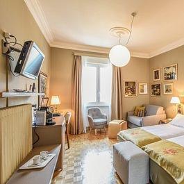 Camera doppia Premium, Premium double room, balcony, lake view, Seesicht, Balkonvista lago, balcone, panorama, macchina del caffè