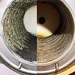 Gasheizung vor- und nach der Reinigung
