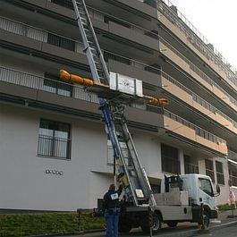 Elevation de store sur chantier