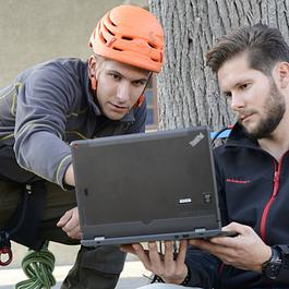 Inspection de l'état interne de l'arbre par tomographies PICUS sonique et électrique