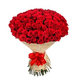 100 rote Rosen zum Valentinstag, 100 roses rouges pour la St.Valentin
