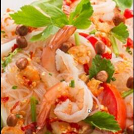 salade de vermicelle aux crevettes