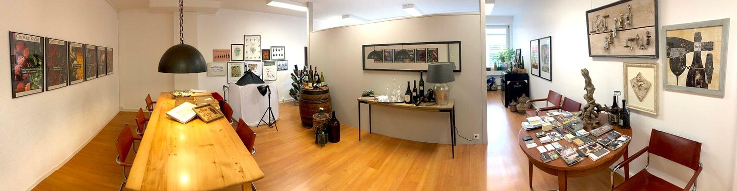 Degustations-Raum in den Büroräumlichkeiten an der Weissenbrunnenstrasse 41