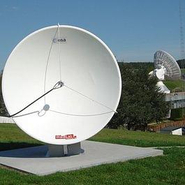 Satellitenbodenstation mit 3m Spiegel in Redu, Belgien
