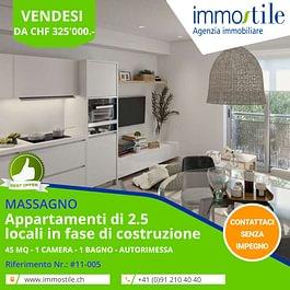 Vendesi a Massagno nuovi appartamenti di 2.5 locali
