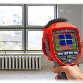 Relevé infrarouge avec une caméra thermographique