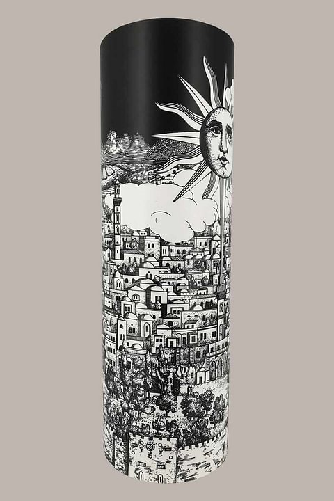 "Table Lamp ""Barnaba"" by Fornasetti for Antonangeli - Italy, 1990s"