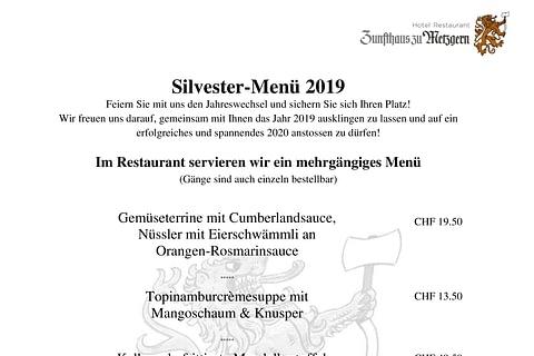 Silvester 2019 in der Metzgere Thun