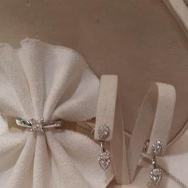 Gioielli oro bianco con brillanti